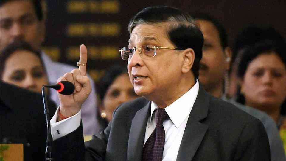 The impeachment motion against Dipak Misra was the first such attempt against a sitting chief justice in independent India. (Credit: PTI)