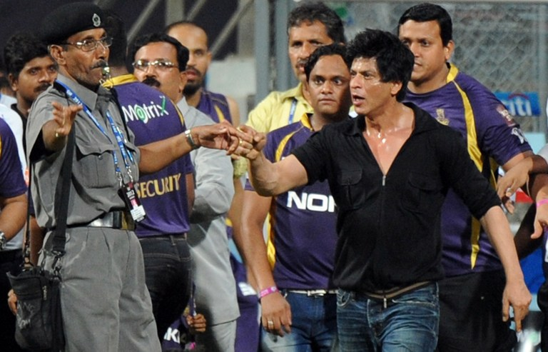 The infamous altercation at the Wankhede Stadium in 2012. Image credit: Indranil Mukherjee/AFP