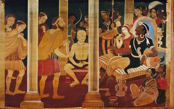 Asit Kumar Haldar, Megasthenes in Chandragupta's Court, Bengal, early 20th century. Image courtesy Ananya Vajpeyi.