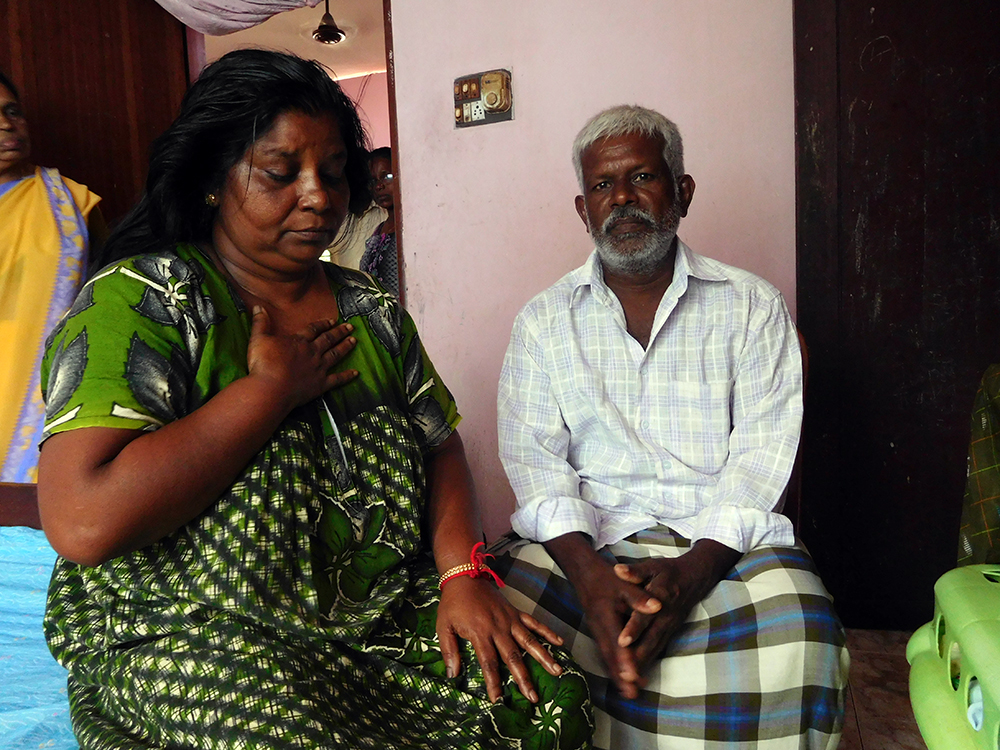 SL Rajesh's father Sudarshan and mother Lalithakumari in their home in Kallampally in Thiruvananthapuram. (Photo credit: TA Ameerudheen).