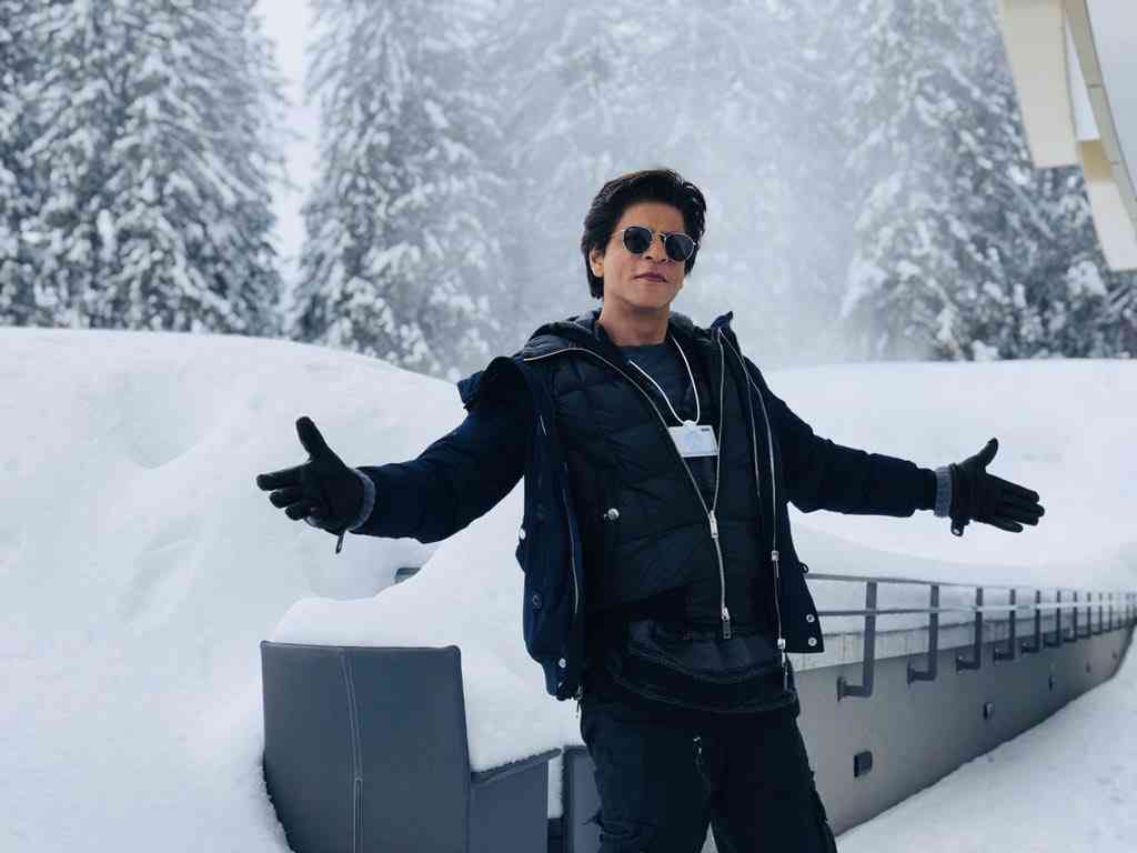 Shah Rukh Khan at the World Economic Forum in Davos in 2018.