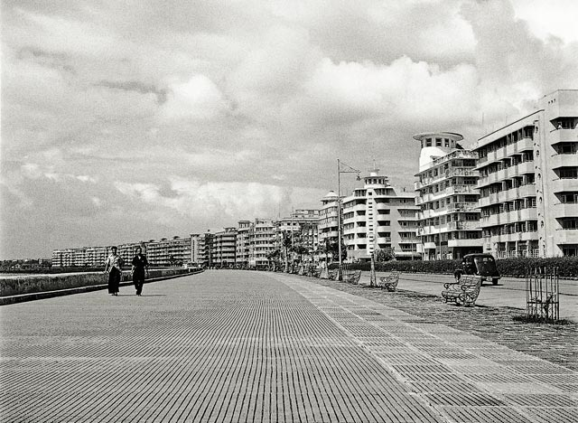 Mumbai's Marine Drive is lined by art deco buildings. Credit: HT Photo