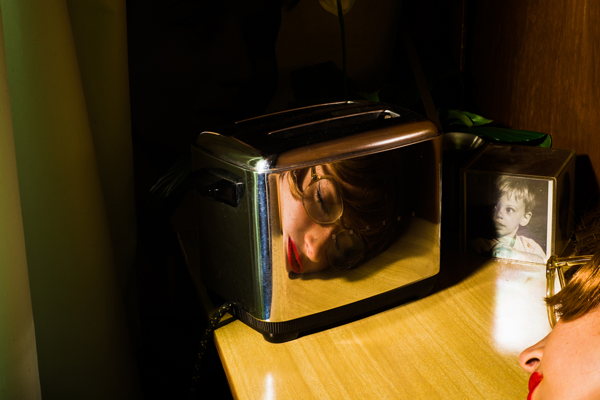 'The Toaster' (self-portrait), by Tania Franco Klein, from the series 'Our Life In The Shadows'. © Tania Franco Klein, Mexico, Shortlist, Professional, Creative (Professional competition), 2018 Sony World Photography Awards.
