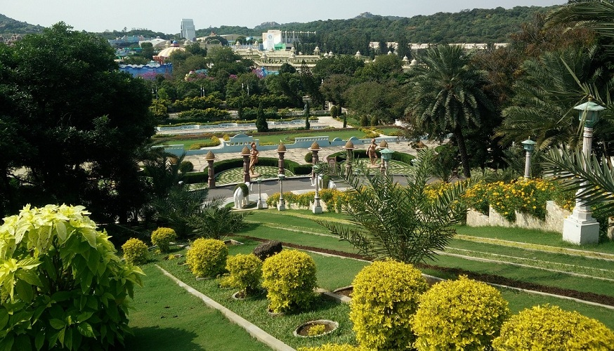One of the many gardens at Ramoji Film City. Photo by Archana Nathan.