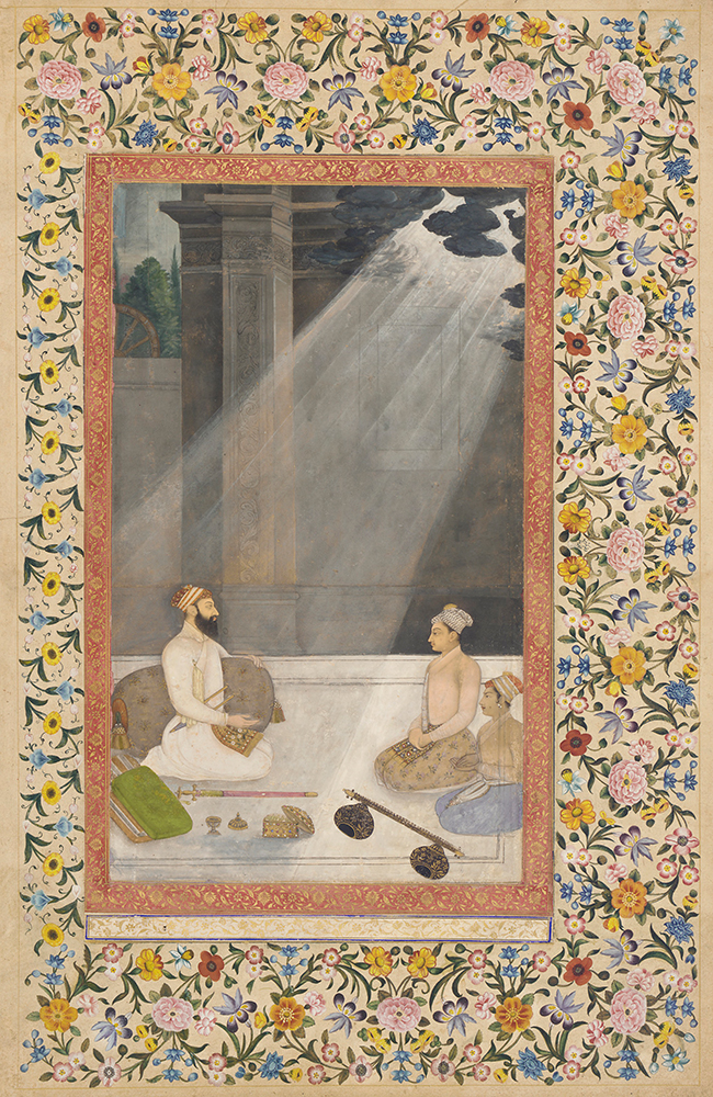 Aurangzeb in a Shaft of Light, from the St Petersburg Album, attributed to Hunhar, c. 1660. Freer Gallery of Art, Purchase: Charles Lang Freer Endowment, F1996.1