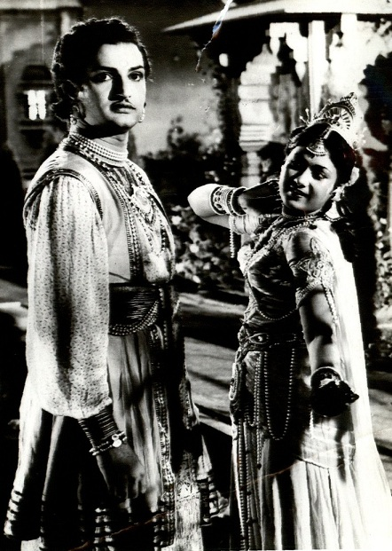 NT Rama Rao and Savitri in Chandraharam (1954). Image credit: National Film Archive of India.