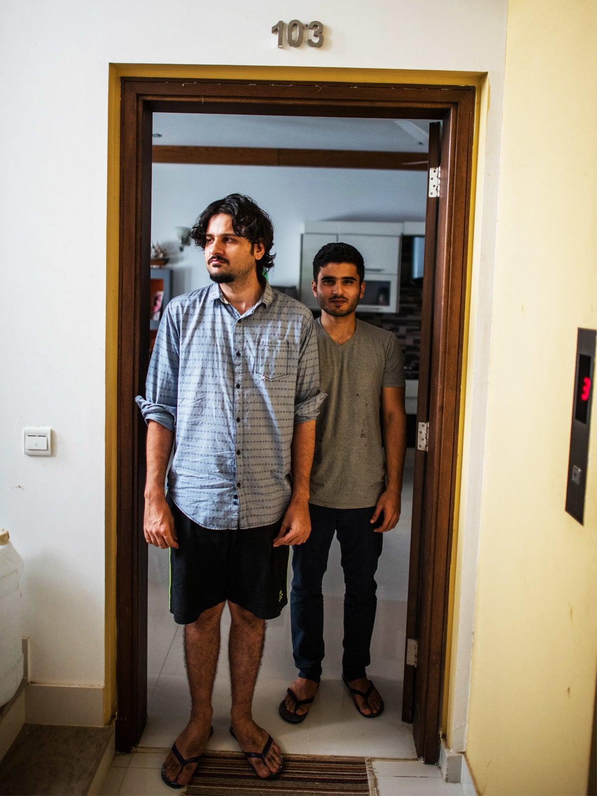 Nadir Shahzad (left) of the band Sikandar ka Mandar stands with musician Shajie Hassan (right) | Mohammad Ali, White Star