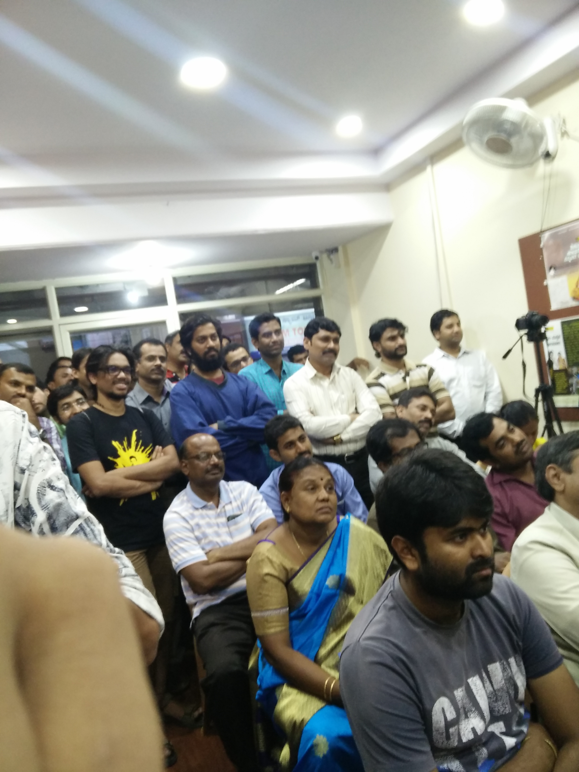The audience at a book event at Munnota Bookshop