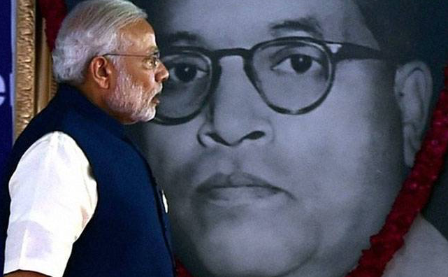 Prime Minister Narendra Modi has concertedly sought to appropriate the legacy of Ambedkar. (Credit: PTI)