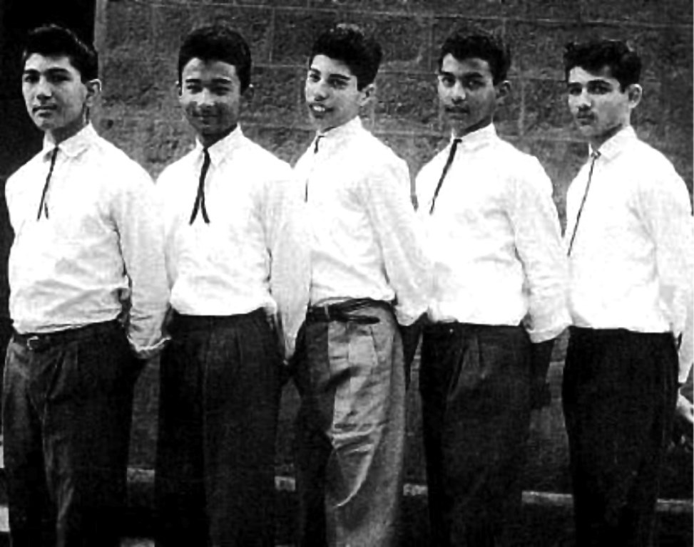 Farrokh Bulsara (Freddie Mercury) and members of his school band, the Hectics.