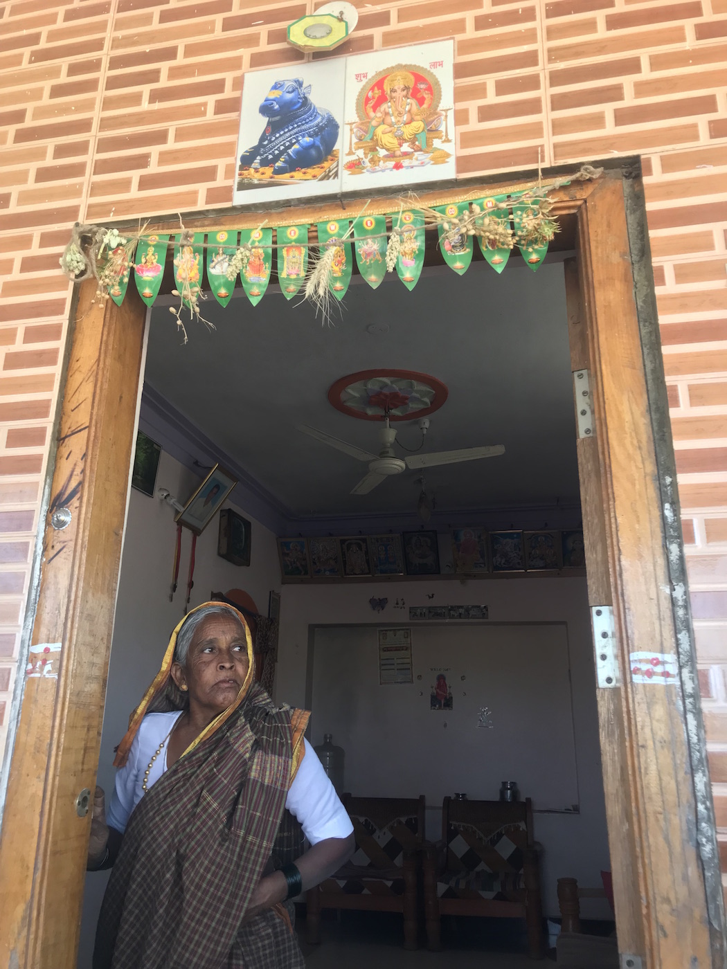 The house of a Lingayat family in Banihatti village in Gadag district of North Karnataka.