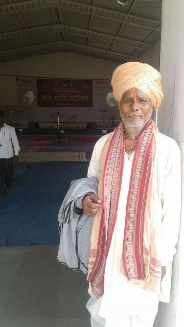 Bitkar Maharaj has been attending the Aundh festival for the past two decades. Credit: Akshay Vardhave