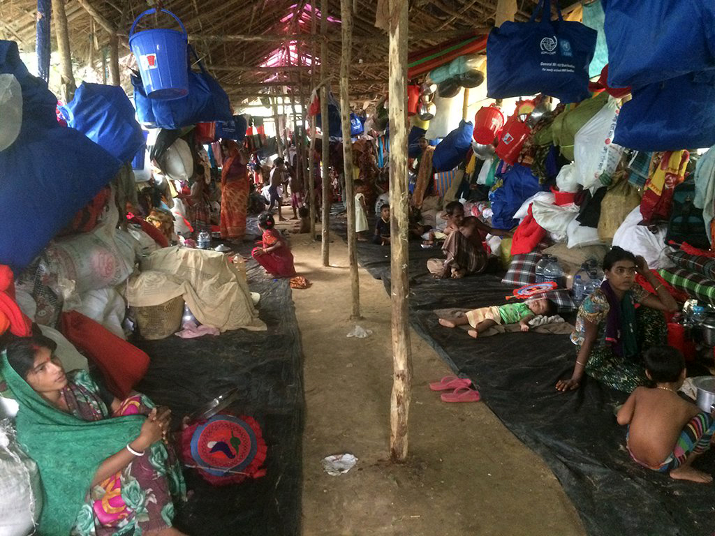 A Hindu refugee camp built inside a chicken coop. Photo credit: Mahadi Al Hasnat/Dhaka Tribune