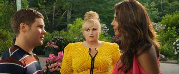 Adam DeVine, Rebel Wilson and Priyanka Chopra in Isn't it Romantic (2019). Courtesy Warner Bros/Netflix.