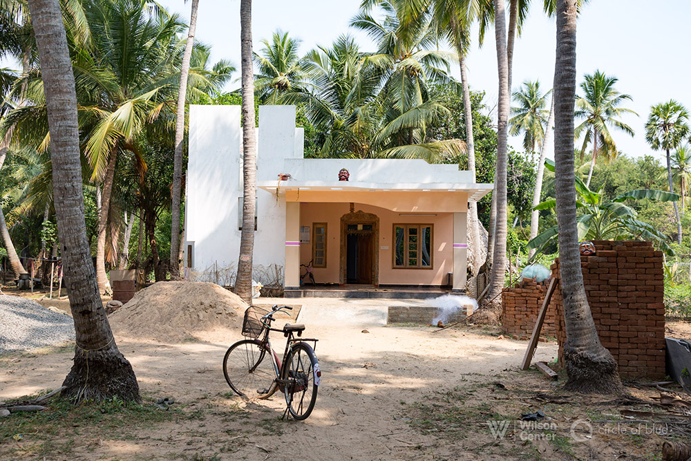 Harikrishna's new home in Vilambur was built amid an Edenic grove of palms on land that has been in his family for at least ten generations. Photo Dhruv Malhotra