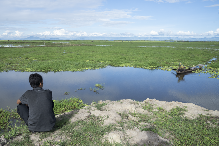 The site of the upcoming sanctuary is to the west of the Loktak lake. The diversity of birds here and the enthusiasm of youth prompted the conservationists to take up the cause of declaring the stretch as a bird sanctuary. Photo credit: Kartik Chandramouli/Mongabay
