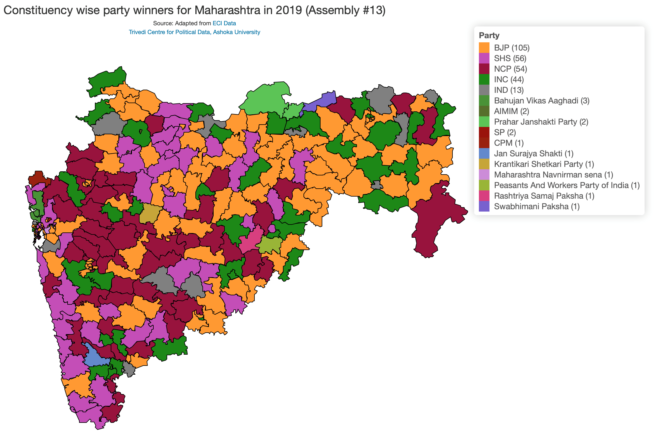Maharashtra wasn't the cakewalk the BJP thought it would be ... on india political map 2014, india political parties, india voting,