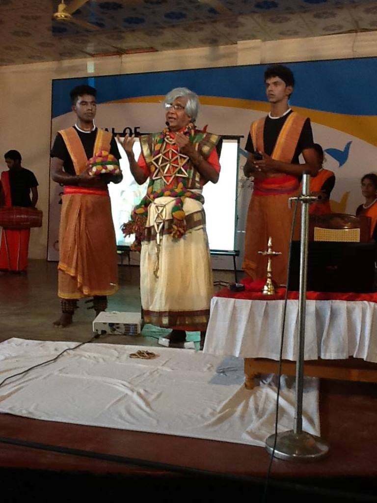 Maunaguru at a workshop with his students. Courtesy: S Maunaguru