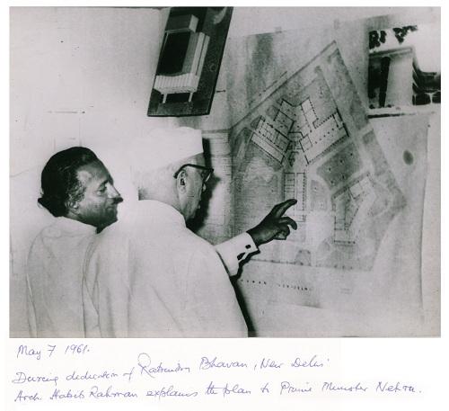 Architect Habib Rahman with Nehru.