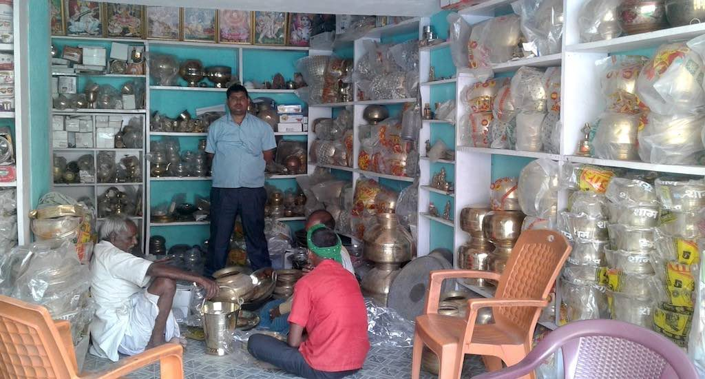 Parev has nearly 50 retail and wholesale shops selling brass utensils. Photo Credit: Mohd Imran Khan