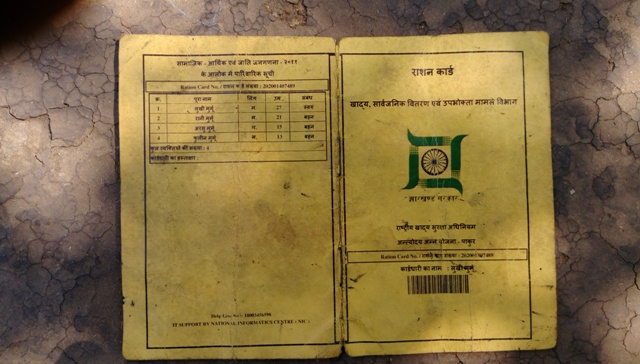 Lukni Murmu's ration card.