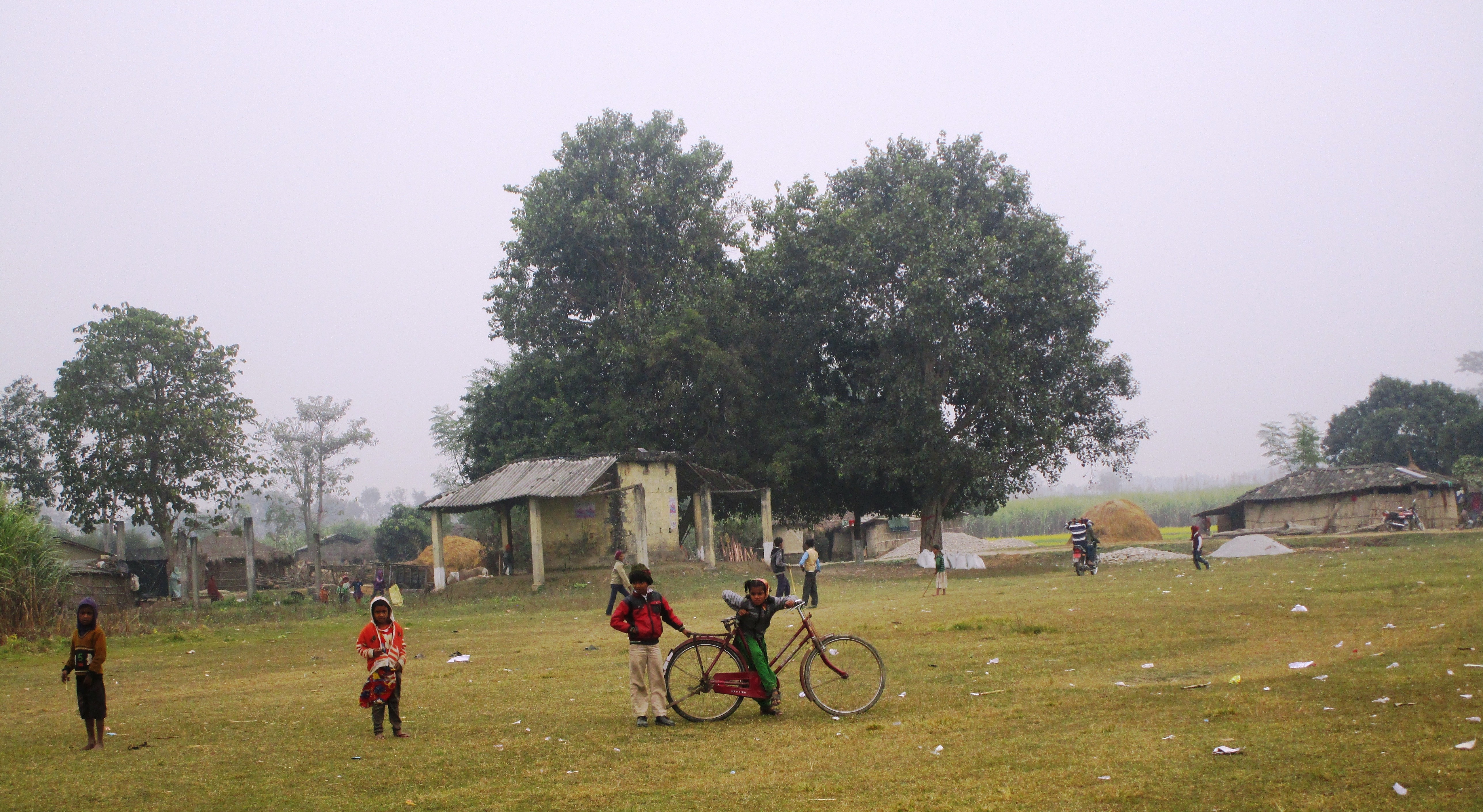Susta village, a disputed site on the India-Nepal border.