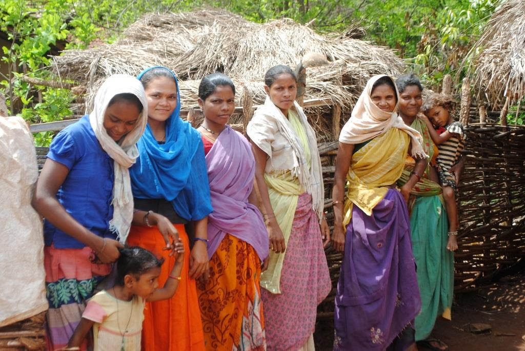 Hidme's friends in Gompad village.