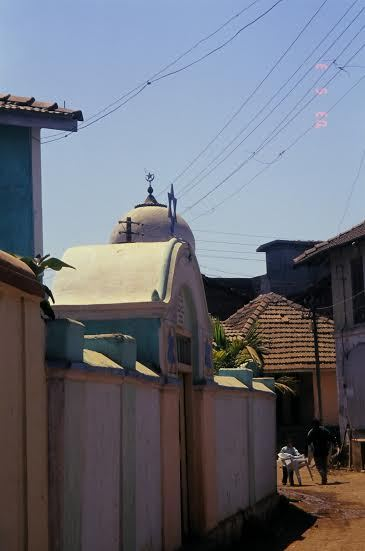 A mosque lies near a synagogue at Borlai Habshi, Janjira.