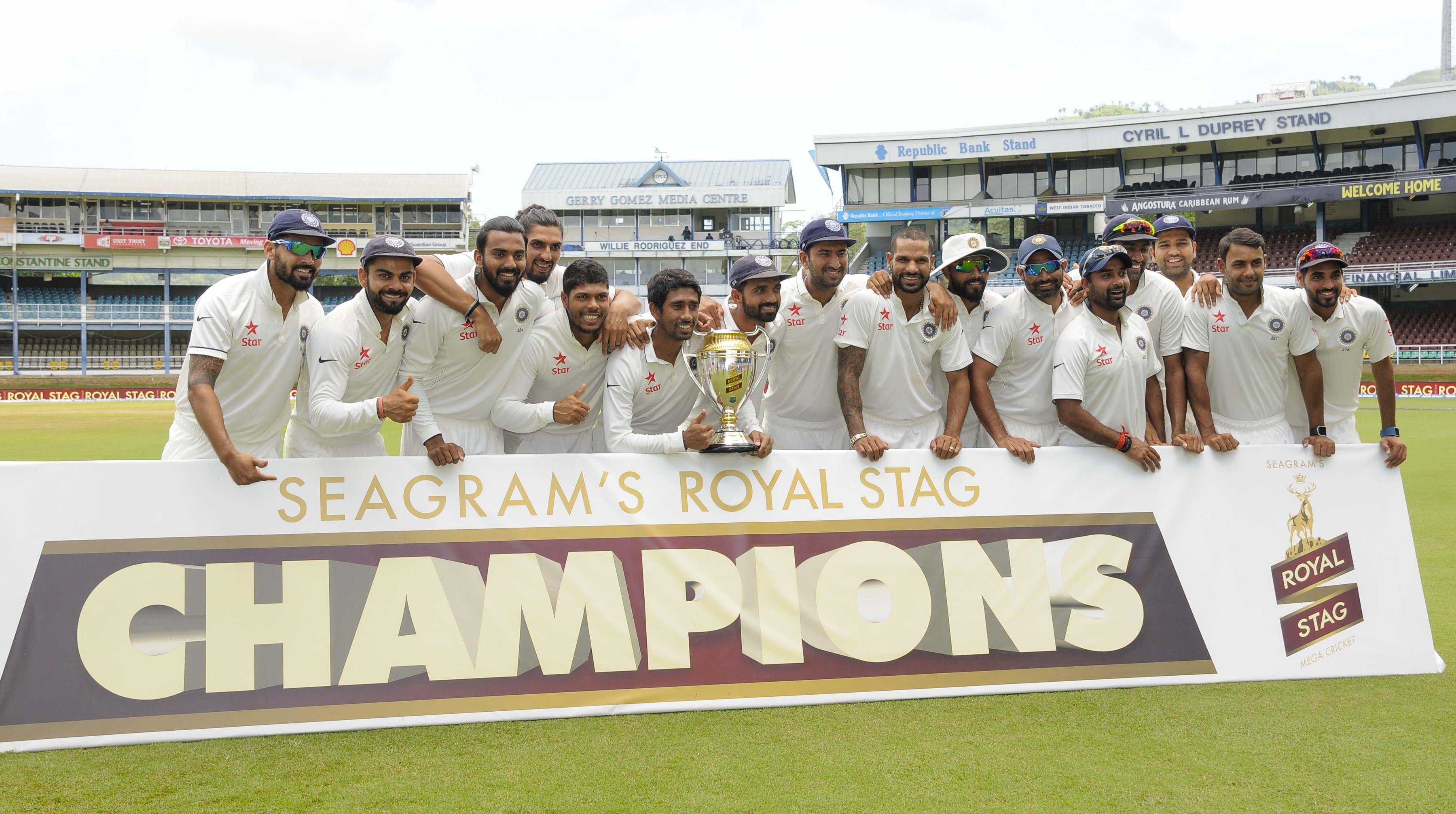 In the Caribbean, India tasted their first overseas Test series win since 2011 (Image credit: AFP)