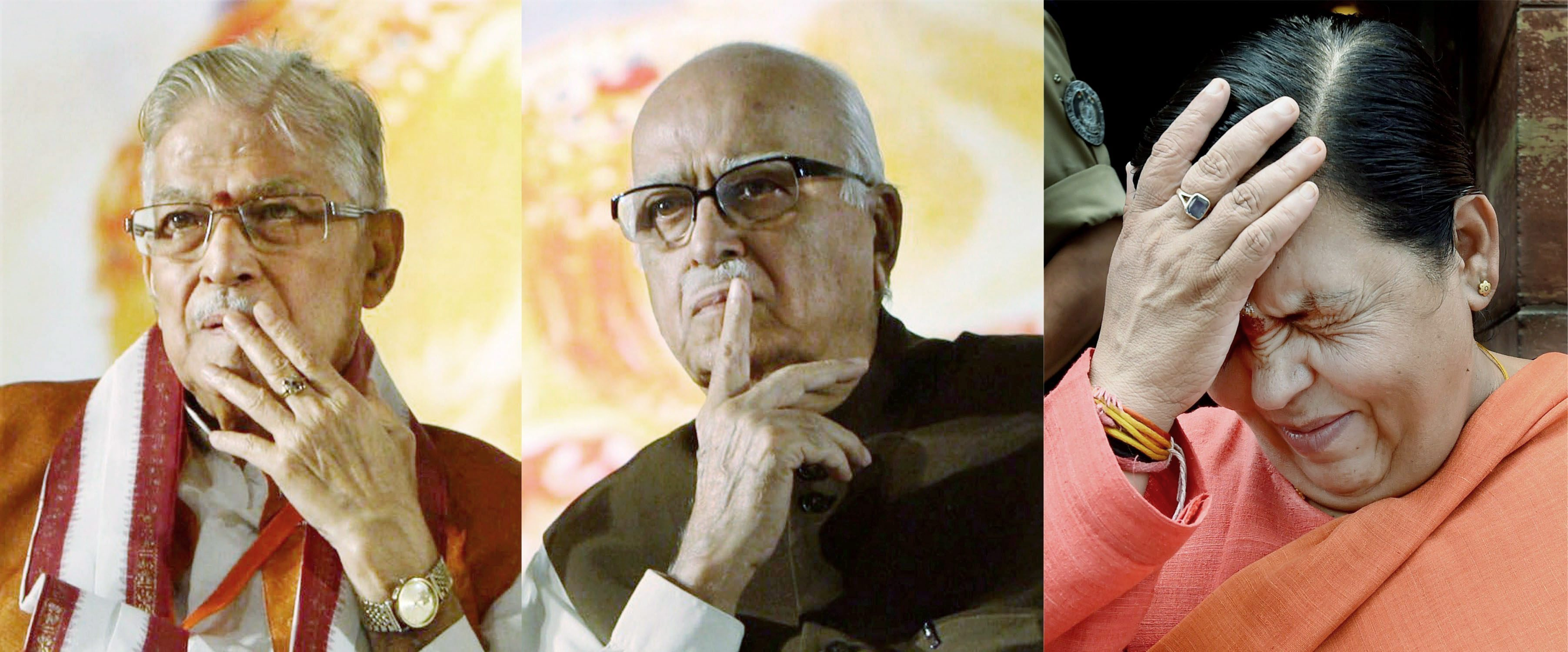 MM Joshi, LK Advani and Uma Bharti.