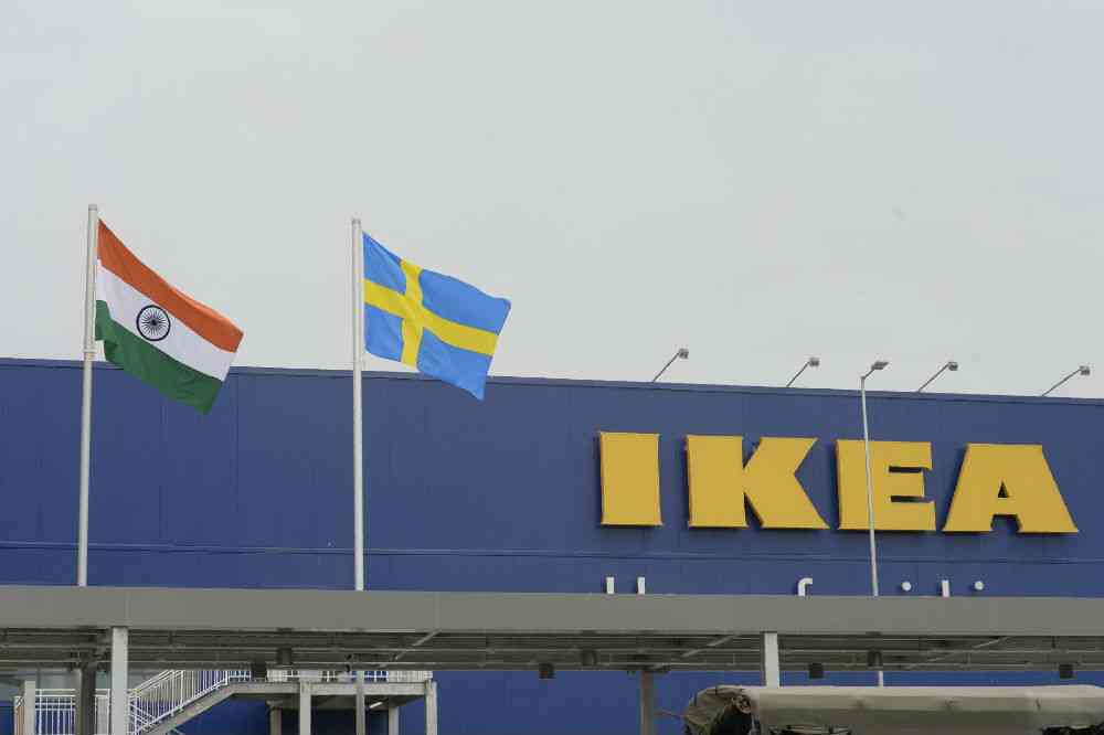 The IKEA store in Hyderabad. Photo credit: Noah Seelam/AFP.