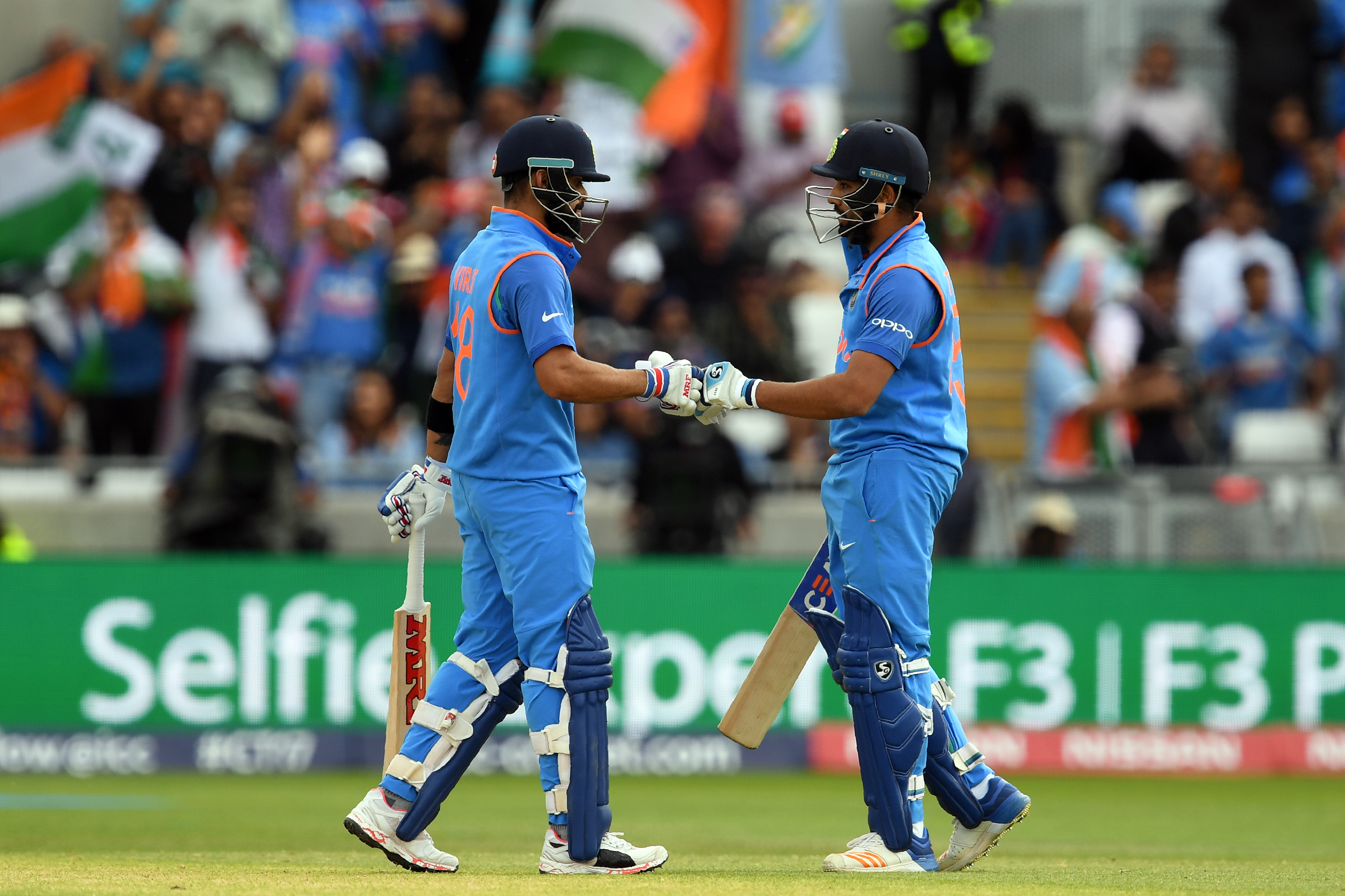 India's top-order batsmen have been on top of their game in this edition of the ICC Champions Trophy. Photo: AFP