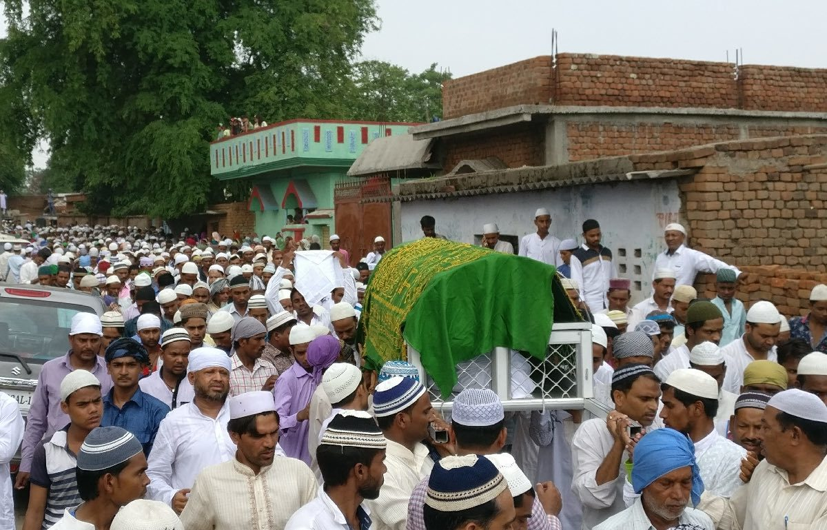 Ansari's funeral procession in Ramgarh. Photo: Shoaib Daniyal