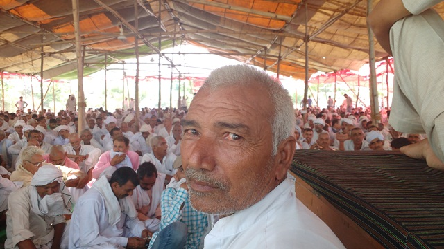 Manoj Dhaka, 65, is anxious that his land holdings are getting fragmented.