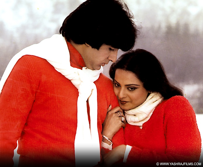 Rekha and Amitabh Bachchan in 'Silsila'. Courtesy Yash Raj Films.
