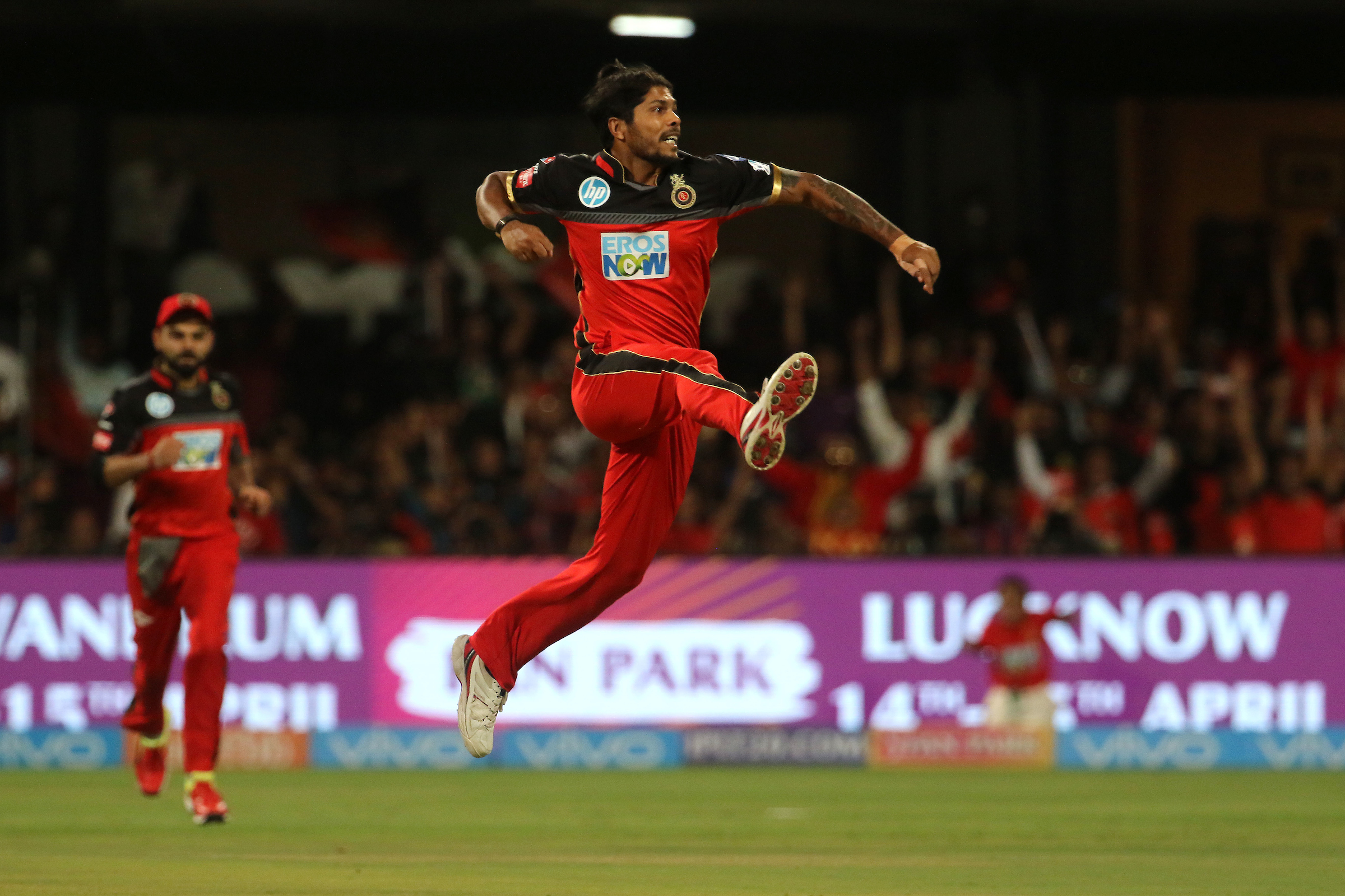 Umesh Yadav's effort not only turned the tide in RCB's favour, but also earned him his first IPL Man of the match award since 2015. Photo: Sportzpics/IPL