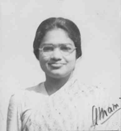 Anna Mani. Photo credit: Raman Research Institute Digital repository.