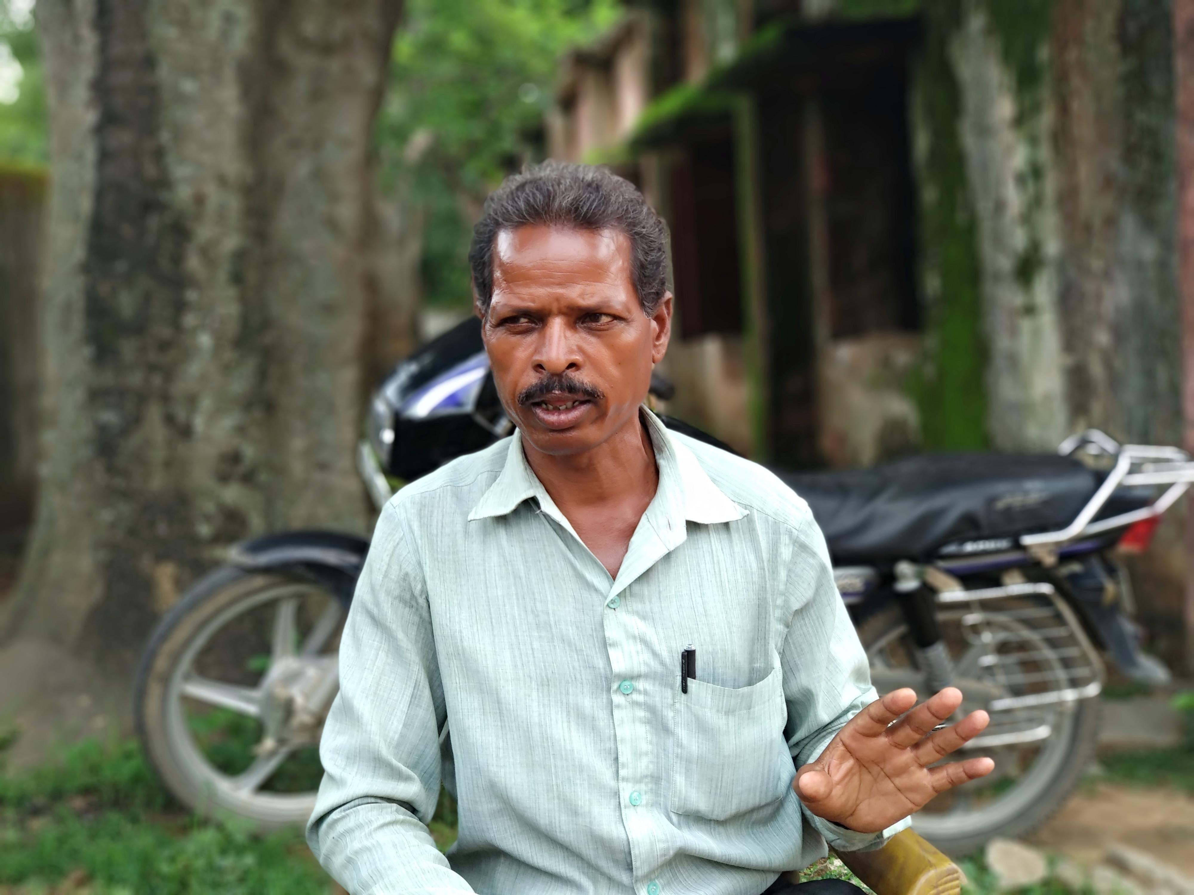 Soma Munda, a tribal community leader in Khuti, blamed the high rate of trafficking on bad governance.  Photo: Arunabh Saikia