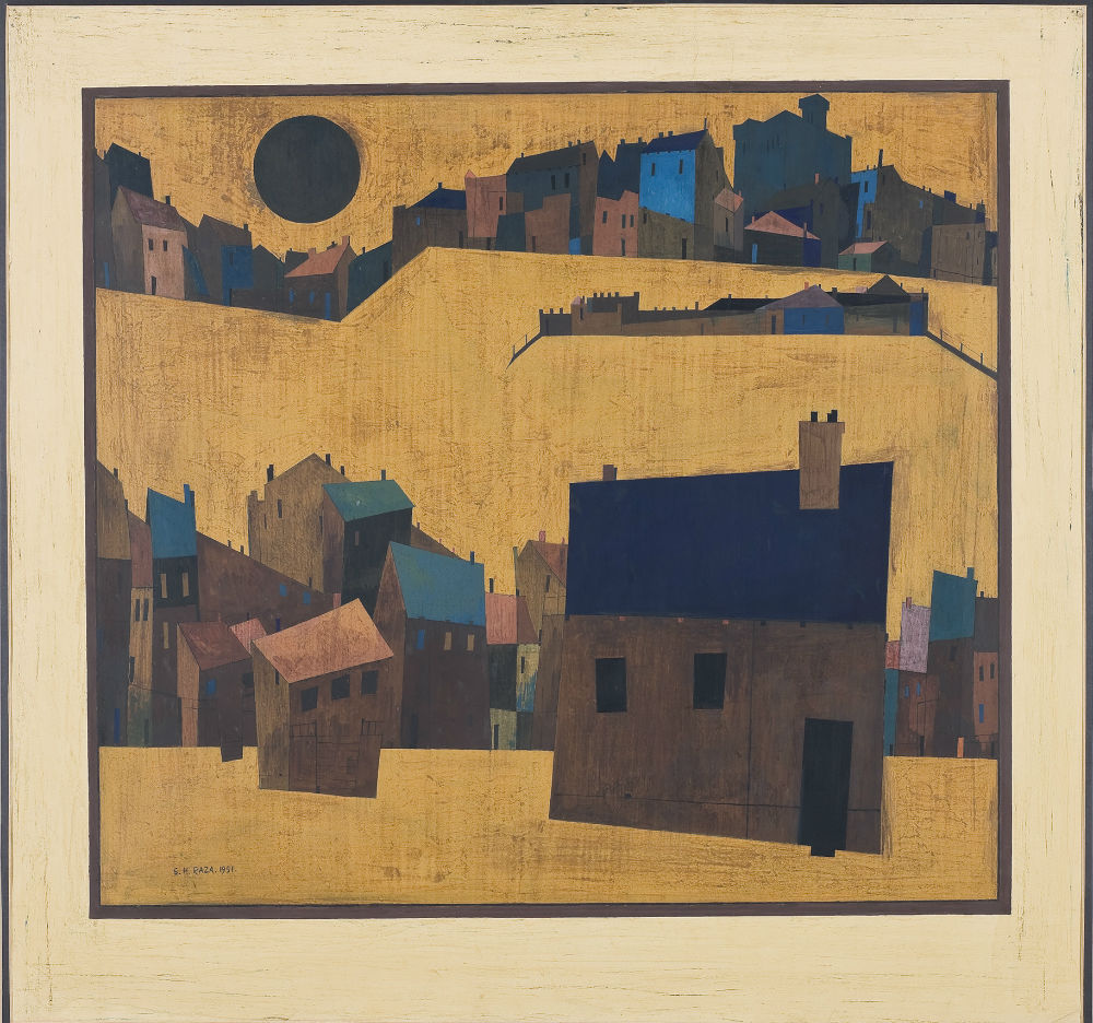 SH Raza, 'Haut de Cagnes', 1951, The Darashaw Collection. Image courtesy: Asia Society.