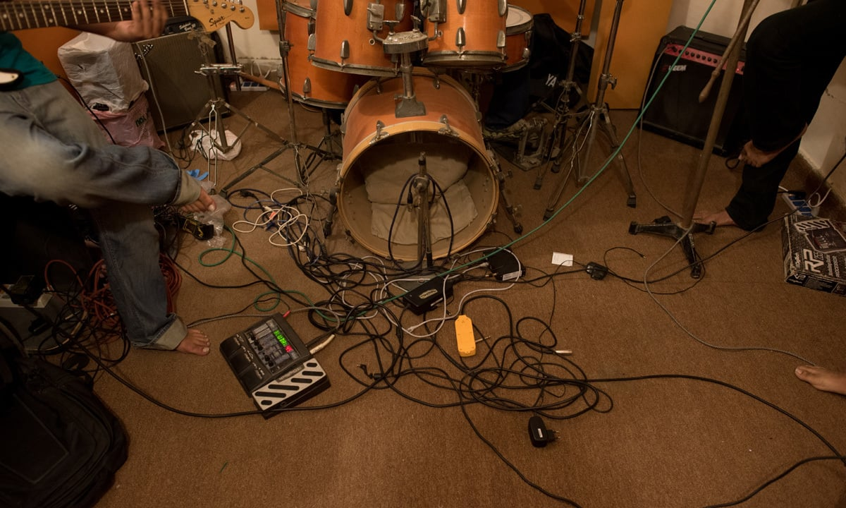 A drum set waits to b played | Mohammad Ali, White Star