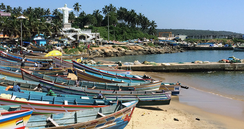Traditional boats at Vizhinjam harbour on Monday. Photo credit: TA Ameerudheen
