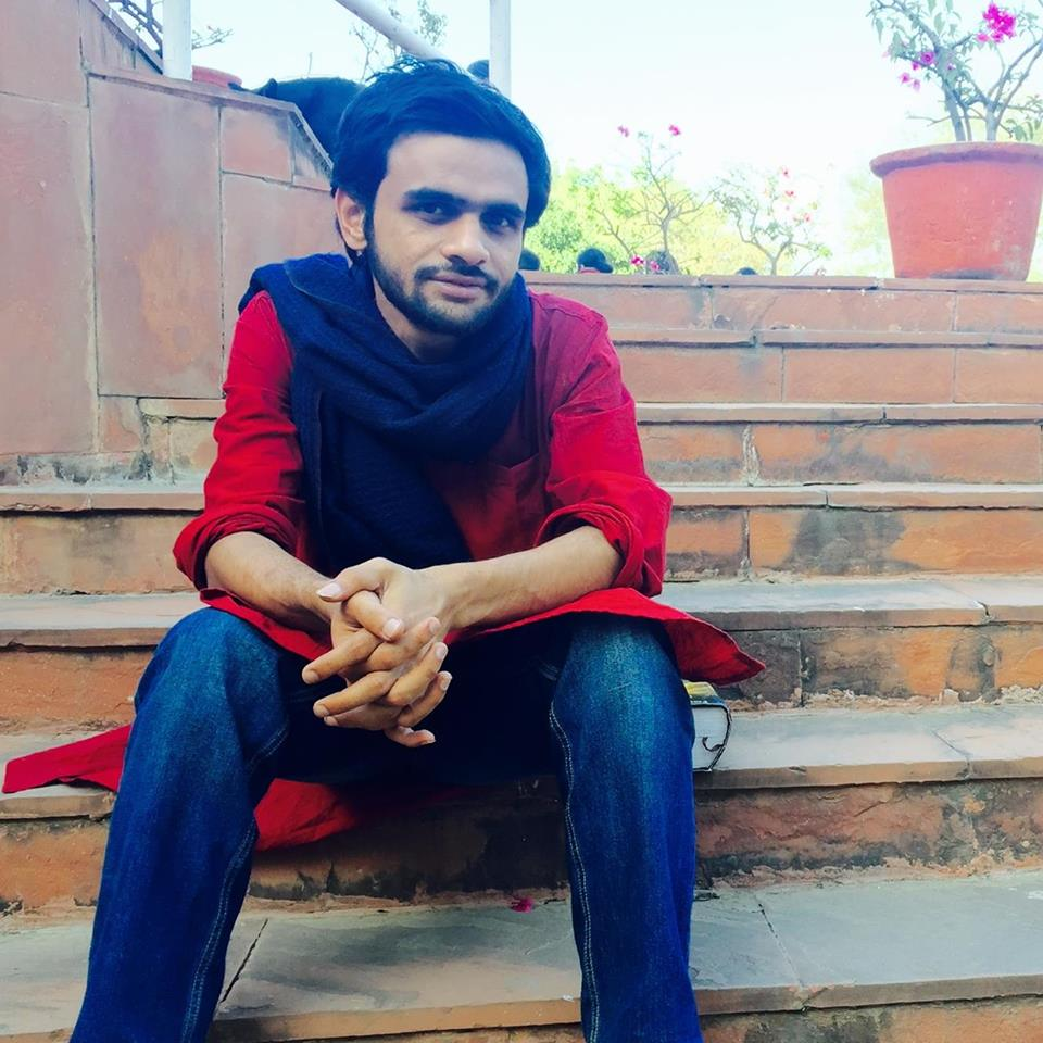 Umar Khalid still participates in protests on campus. Image credit: Umar Khalid/Facebook