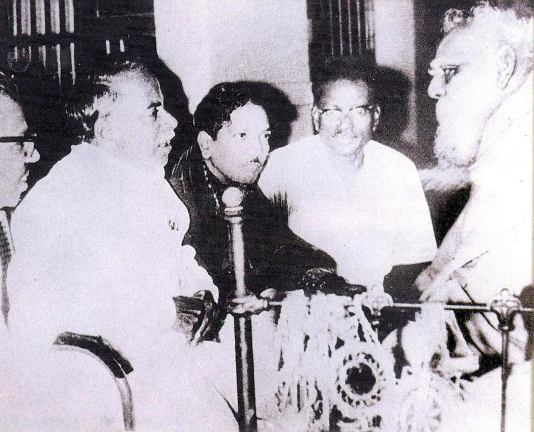CN Annadurai, Karunanidhi and Periyar.
