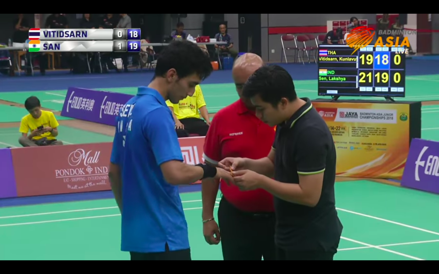 Was Lakshya Sen's medical timeout a tactical move? (Image: YouTube screengrab)