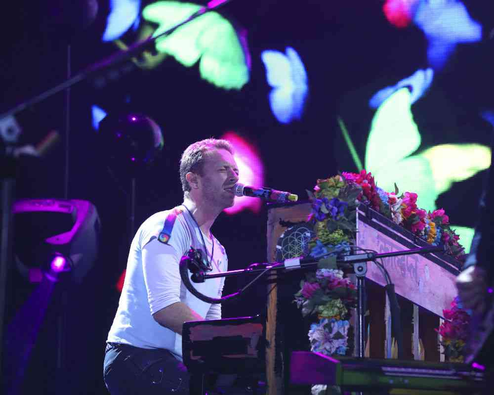 A Coldplay concert. Photo credit: Ronny Hartmann/AFP.