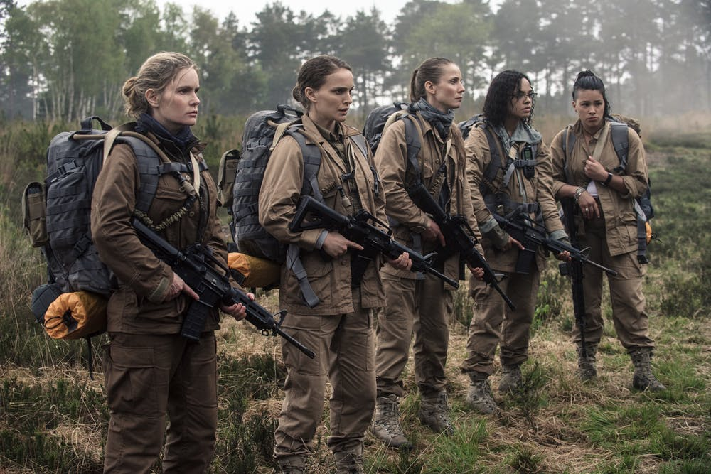 Annihilation's all women scientists. Peter Mountain/© 2017 Paramount Pictures. All Rights Reserved.