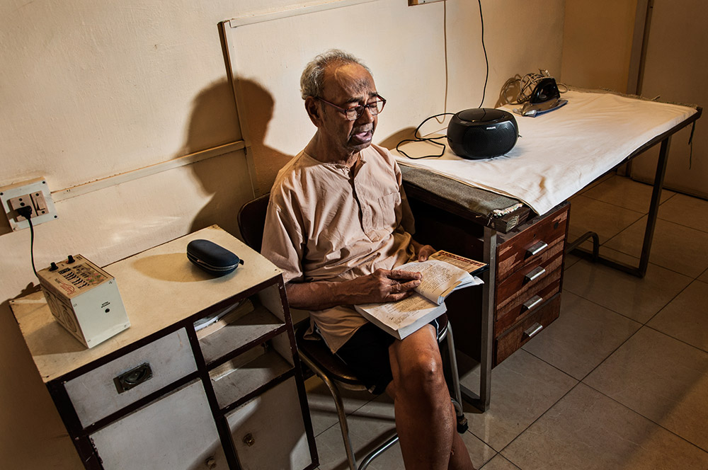PS Krishnan, 89, was a general practitioner who had a clinic of his own not too long ago. Credit: Naveen PM