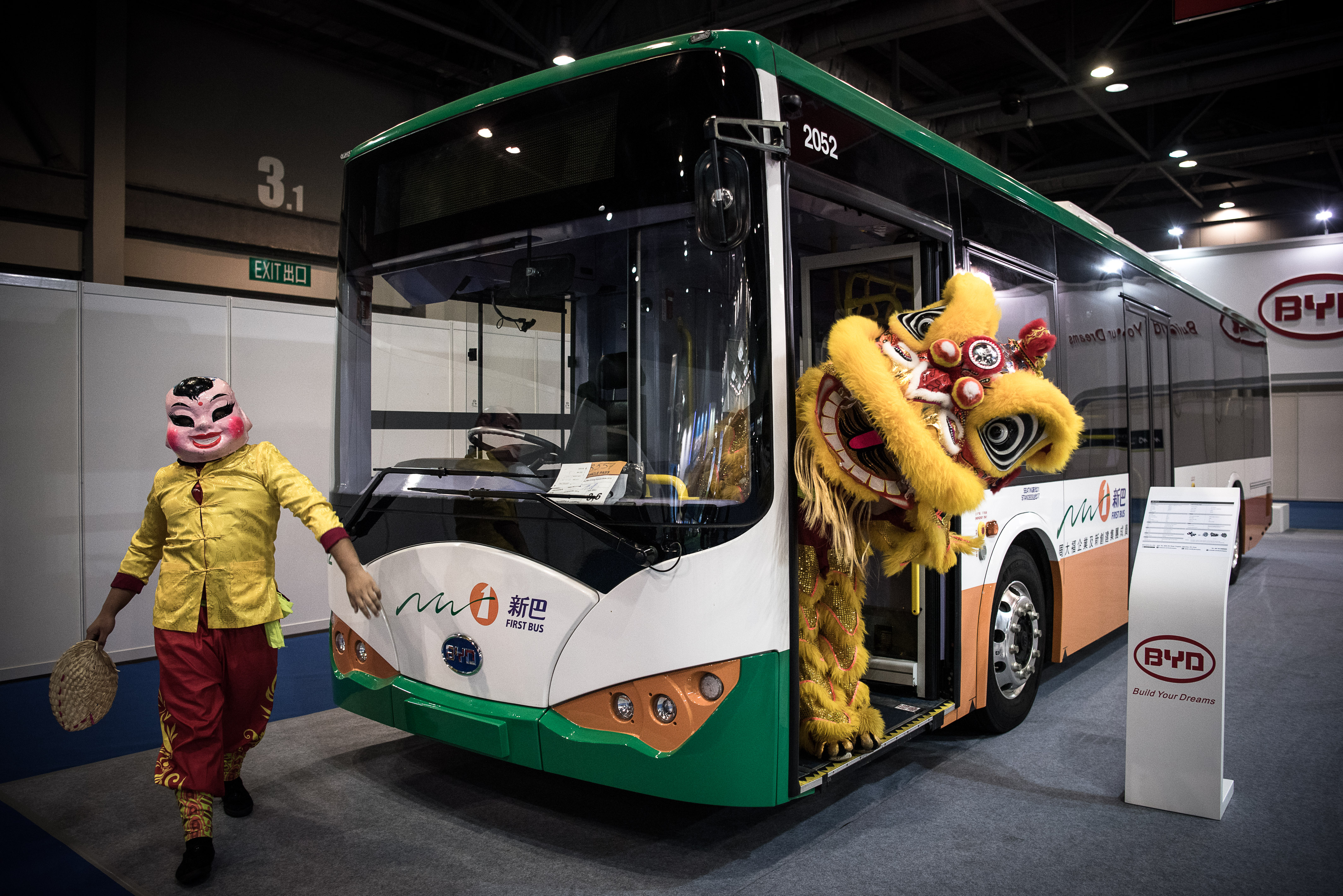 China has emerged as the global leader in electric buses. Photo credit: AFP