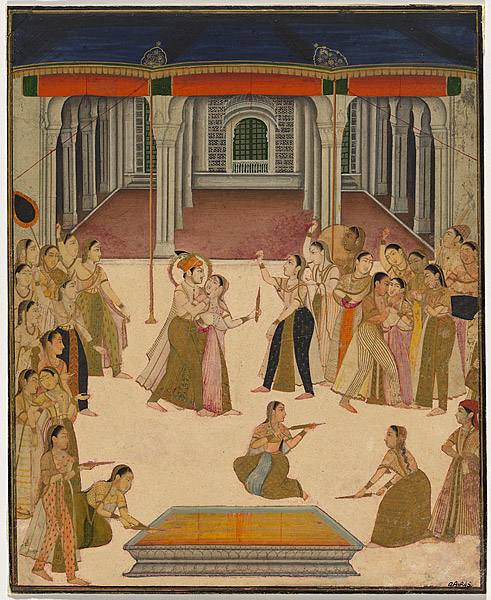 The emperor Jahangir celebrating Holi with the women of the zenana. c.1800 National Gallery of Australia, Canberra