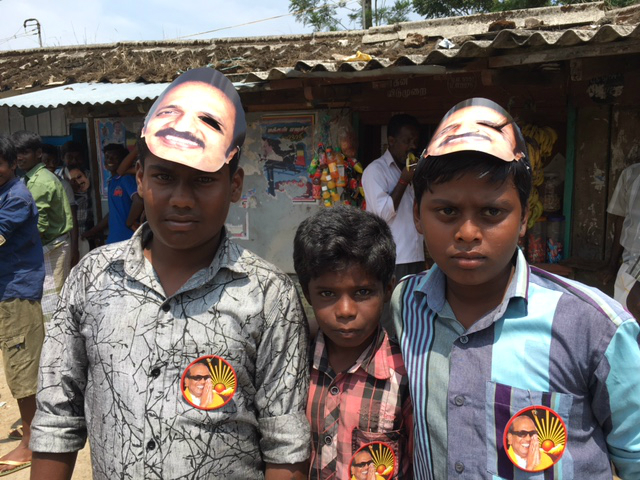 Young supporters of the DMK.